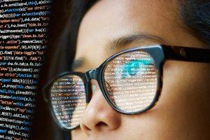https://pixabay.com/photos/woman-programming-glasses-reflect-3597095/